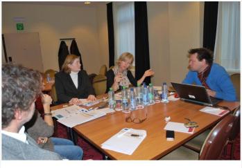 Réunion de contact, avec les futurs coordinateurs belge, français, roumain et luxembourgeois, novembre 2012, Liège