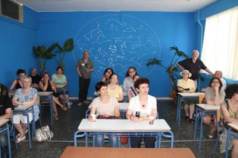 Visite de l'école du soir à Thessalonique, mai 2014