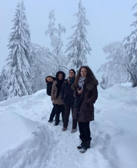 Equipe luxembourgeoise et française, Outokumpu, février 2015