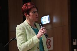 Madame Vinciane Istace, modératrice de la soirée de restitution, Pwc, mai 2015
