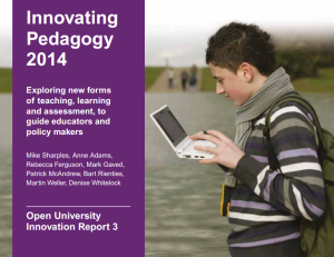 Innovating Pedagogy 2014
